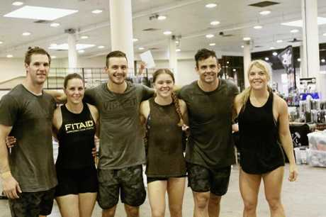 FITNESS FANATICS: VidaFit Black team members Alex Budrodeen, Jacinda Lawrence, Rhyce Philp, Tai Gwynne, Dan Withers and Johanna Welsch.