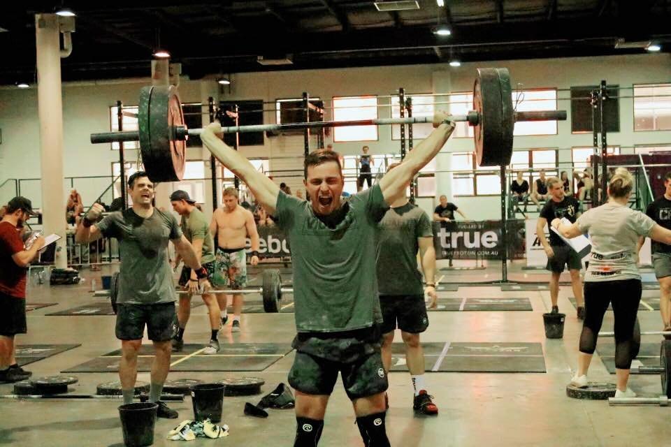 CHAMPION: Rhyce Philp hitting a PB snatch at the Australian Allstar CrossFit Finals held in Brisbane last weekend.