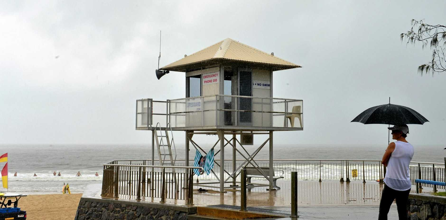 Mooloolaba Beach is one of several Coast beaches that have closed due to the storms.