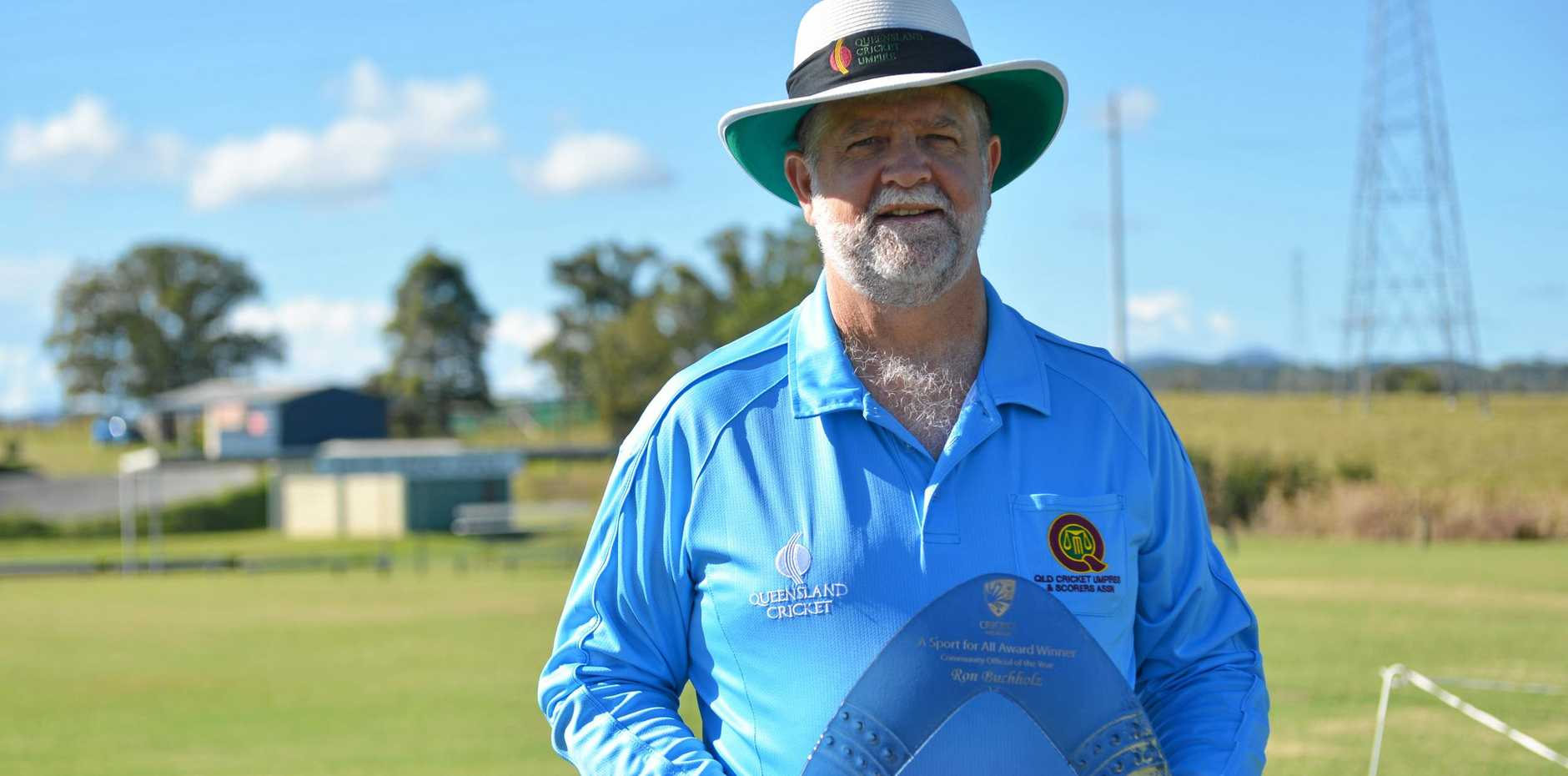 Ron Buchholz was named the Community Official of the Year and Queensland Community Umpire of the Year earlier this year.