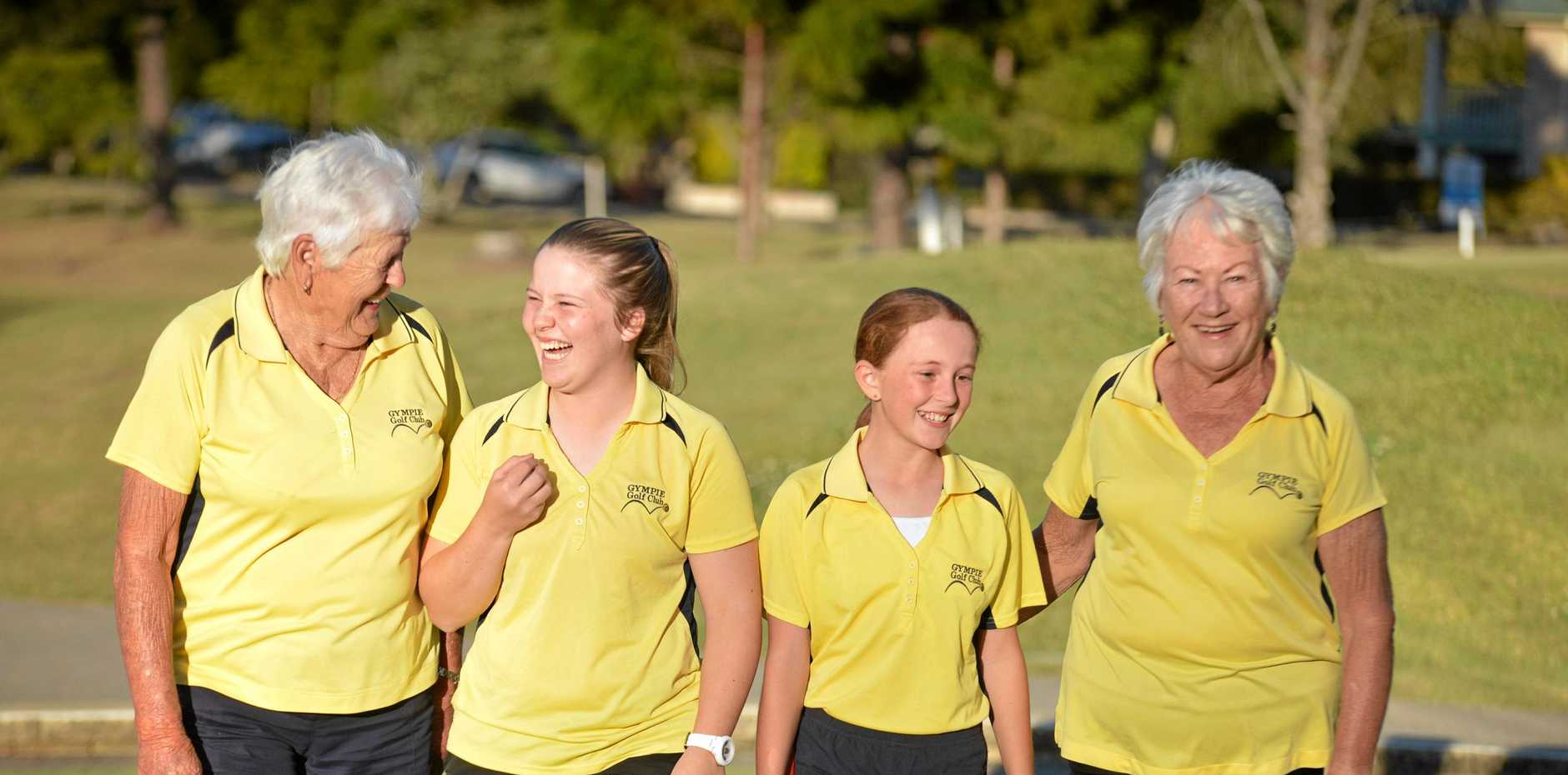 GOLF: File photo of Dell Groundwater, Rebecca O'Neill, Caitlyn Wheatley and Carol Ward.