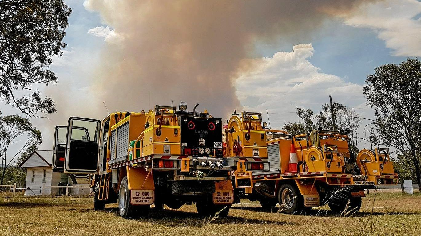 ON WATCH: Rural fire services from Karara and Massie on spotfire watch in Karara township.
