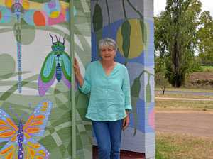 Toilet block transformed into colourful artwork