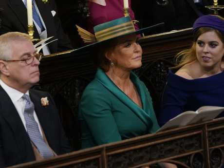 Prince Andrew, Sarah Ferguson, and their daughter Princess Beatrice at Princess Eugenie's wedding in October. Photo: Danny Lawson — WPA Pool/Getty Images