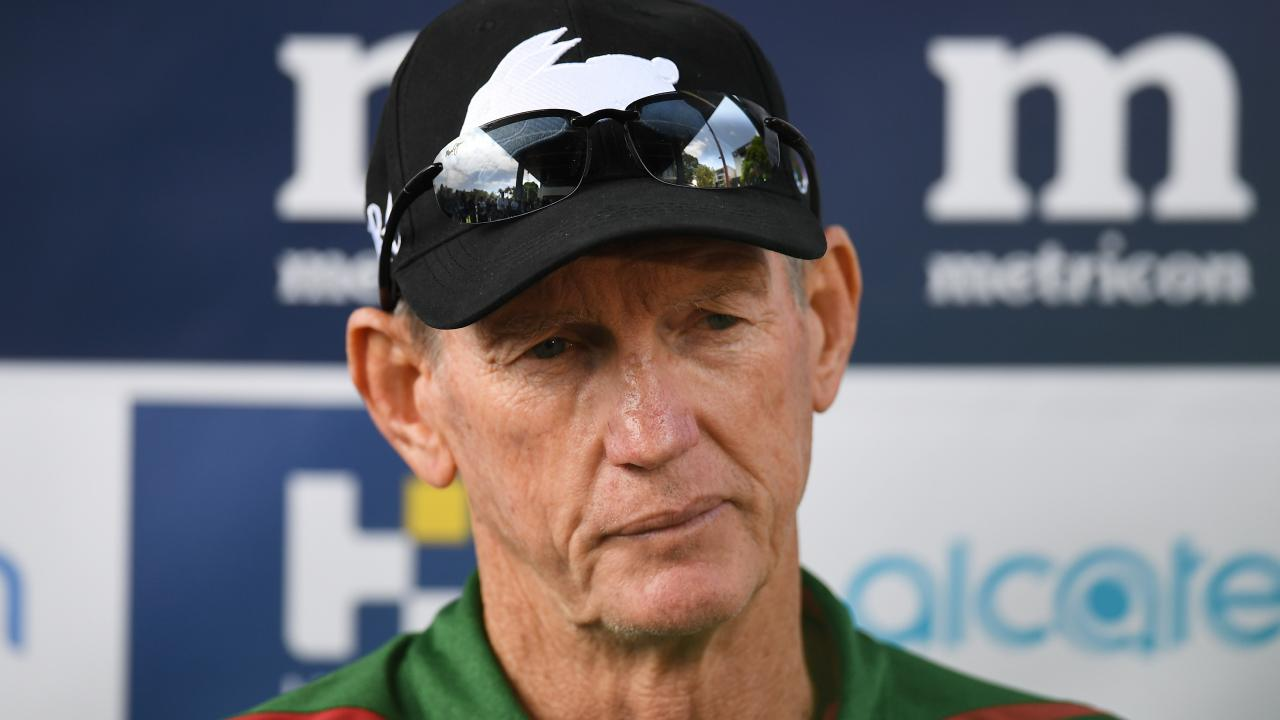 Wayne Bennett speaks to the media after joining the Rabbitohs. Picture: AAP