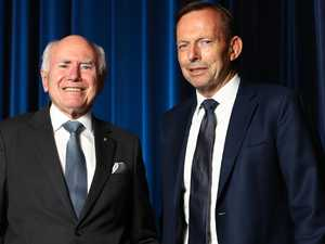 Statues of former prime ministers Abbott, Howard defaced