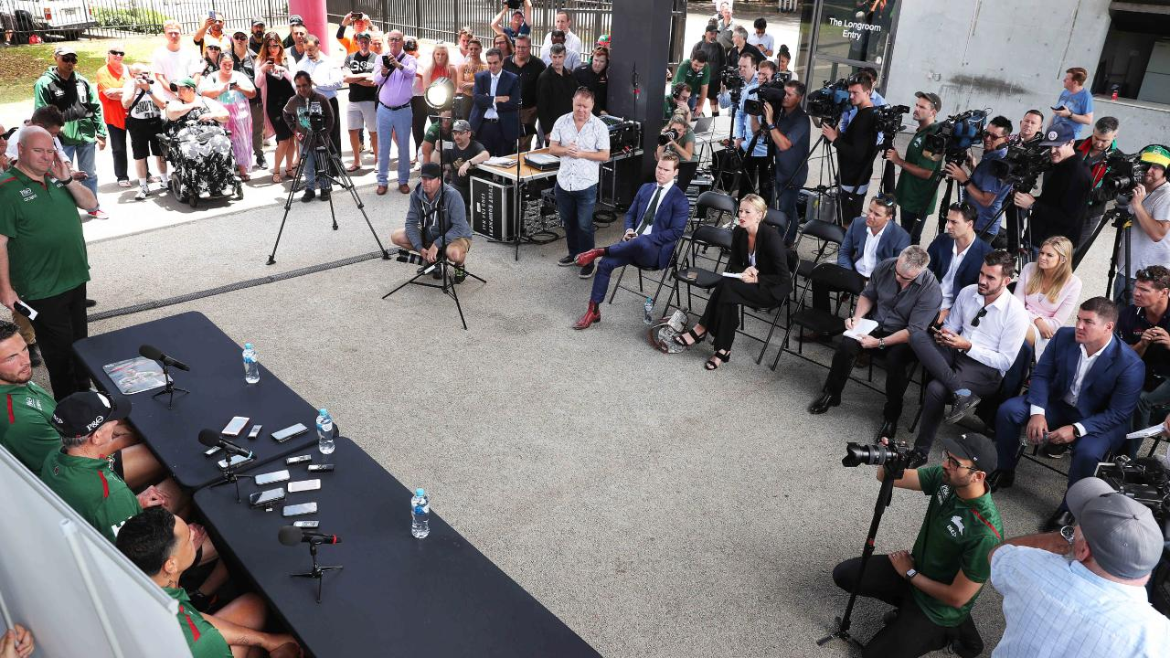 Wayne Bennett just loves a big press conference. (Phil Hillyard)