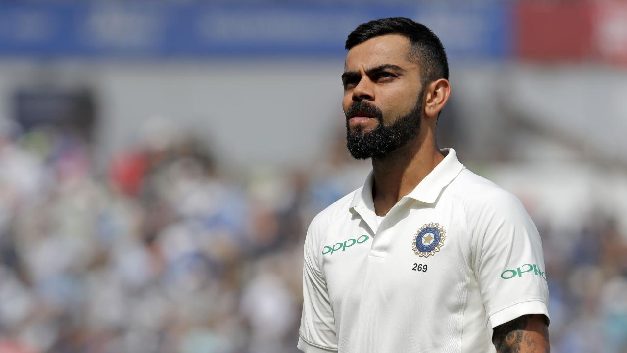India's captain Virat Kohli reacts on the field af