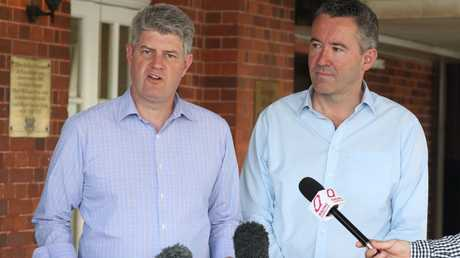 Racing Minister Stirling Hinchcliffe and CEO of Queenmsland racing Brendan Parnell.