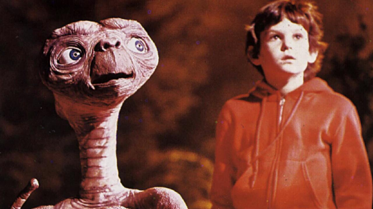 1982. ET character and child actor Henry Thomas in a scene from the film E.T. the Extraterrestrial.