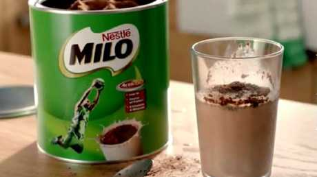 Nestle was shamed for its 'Add more milk' campaign at the national Parents' Voice Fame and Shame Awards. Picture: Milo/Youtube