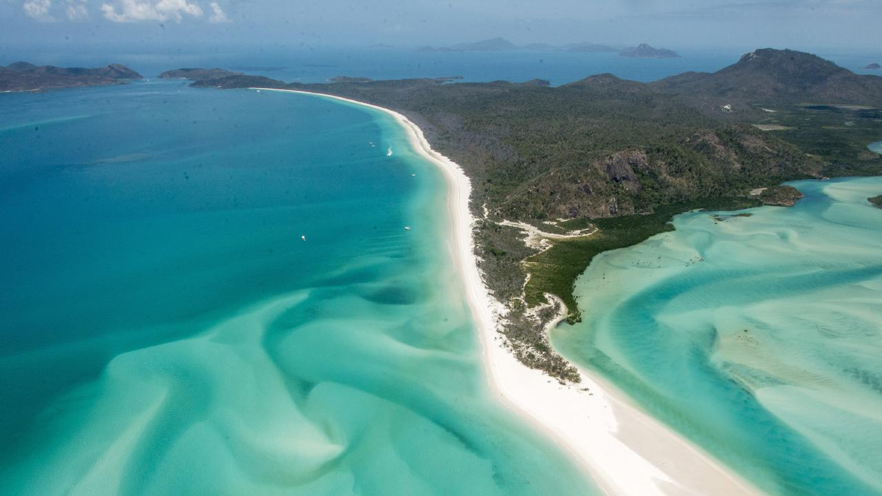 Whitehaven Beach is considered the second best beach in the world. Picture: Daryl Wright