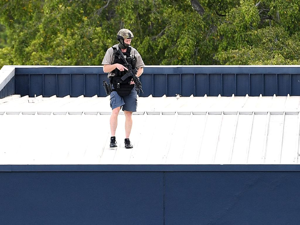 Other SERT officers were also spotted in casual looking clothes. Picture: Dan Peled/AAP