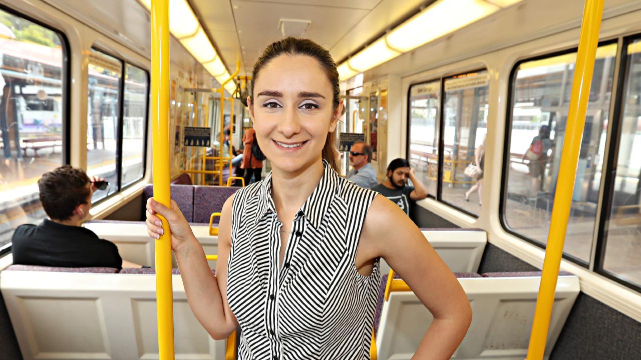 Brisbane commuter Maryam Fallah. Picture:  Annette Dew