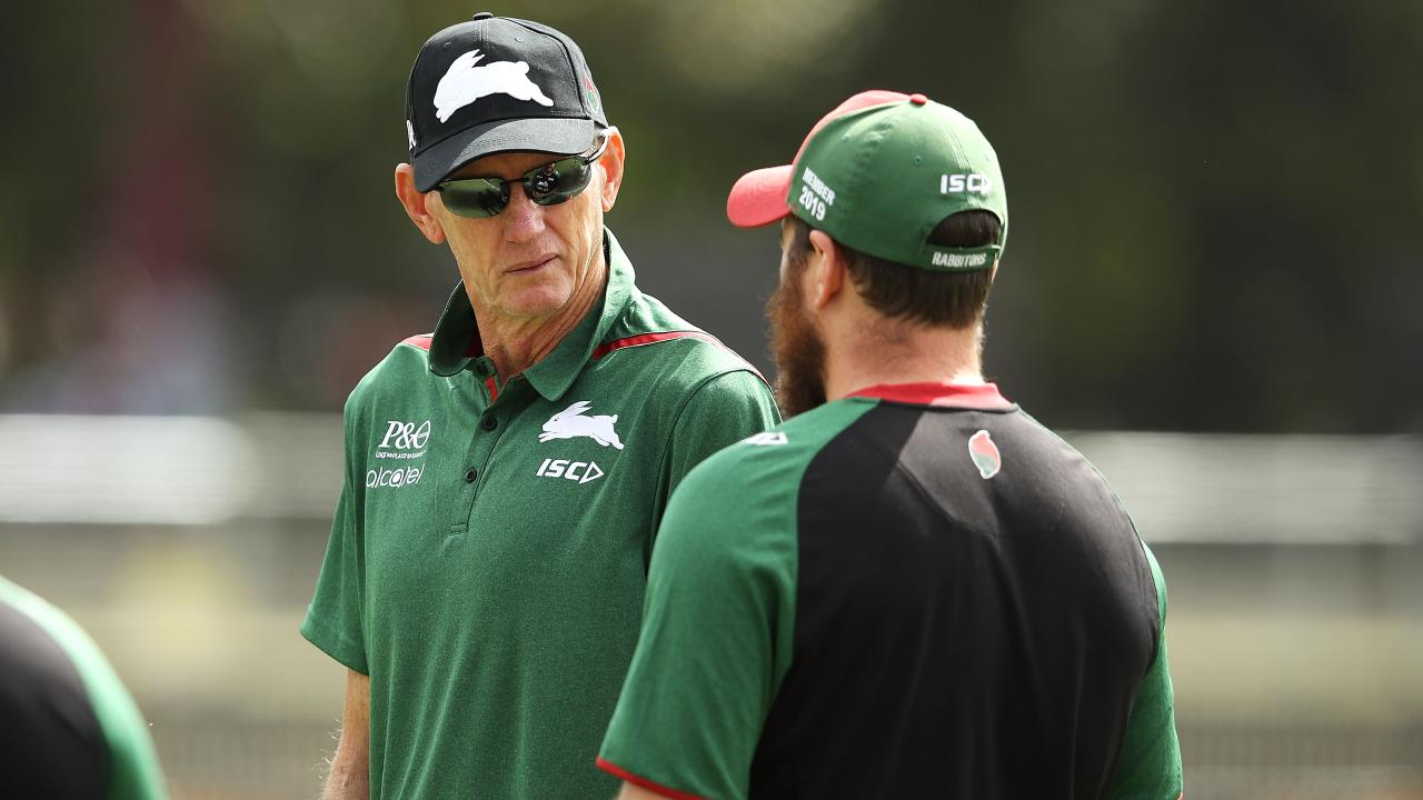Wayne Bennett arrives for his first session in charge of the Rabbitohs. (Photo by Mark Kolbe/Getty Images)