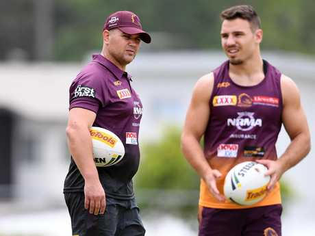 Anthony Seibold took charge of his first training session yesterday.