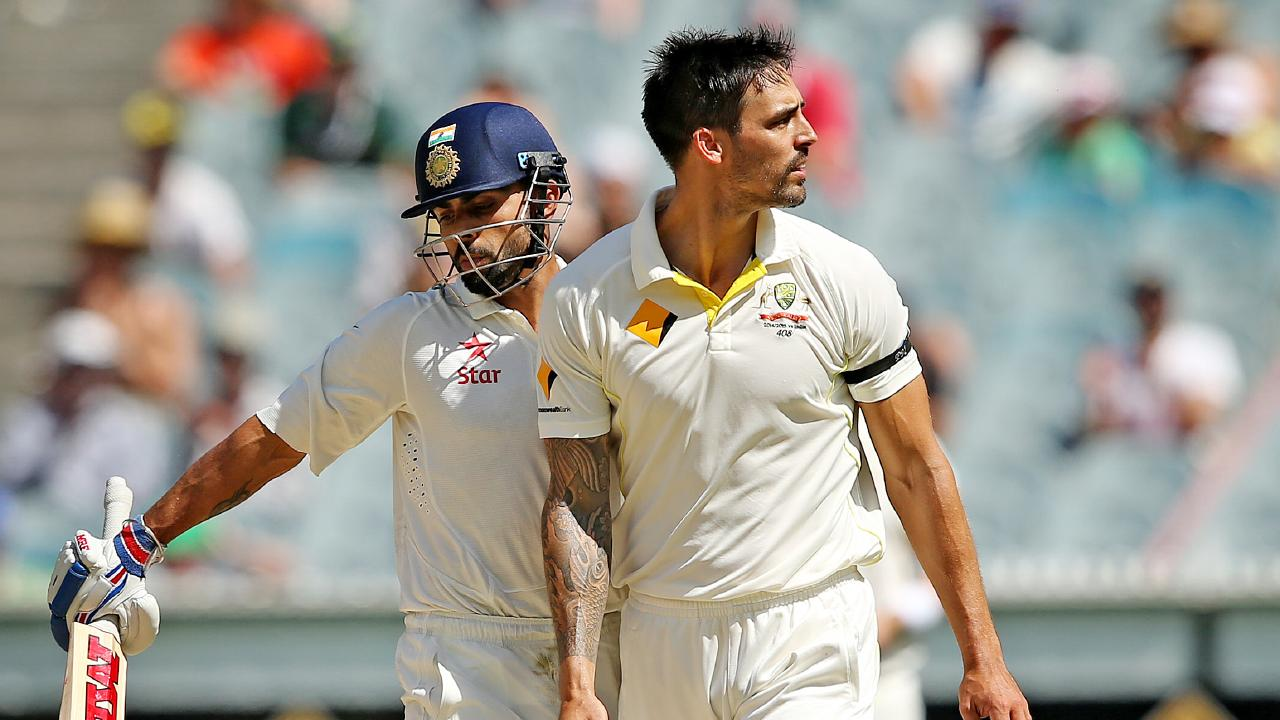 Mitchell Johnson and Virat Kohli clashed regularly in the 2014-15 series.