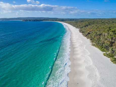 Hyams Beach in southeast NSW made the list, thanks to its famous white sand.