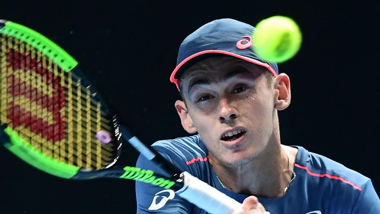 Alex de Minaur wants to take his game to the next level. (Photo by Miguel MEDINA / AFP)