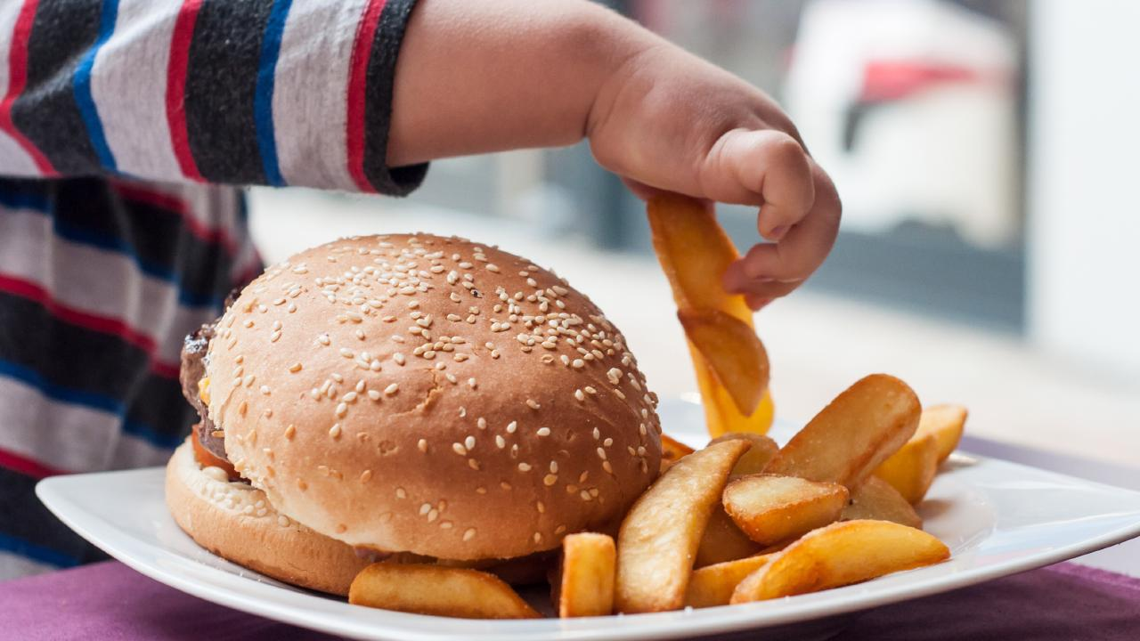 Avoid kid's meals that offer chips.