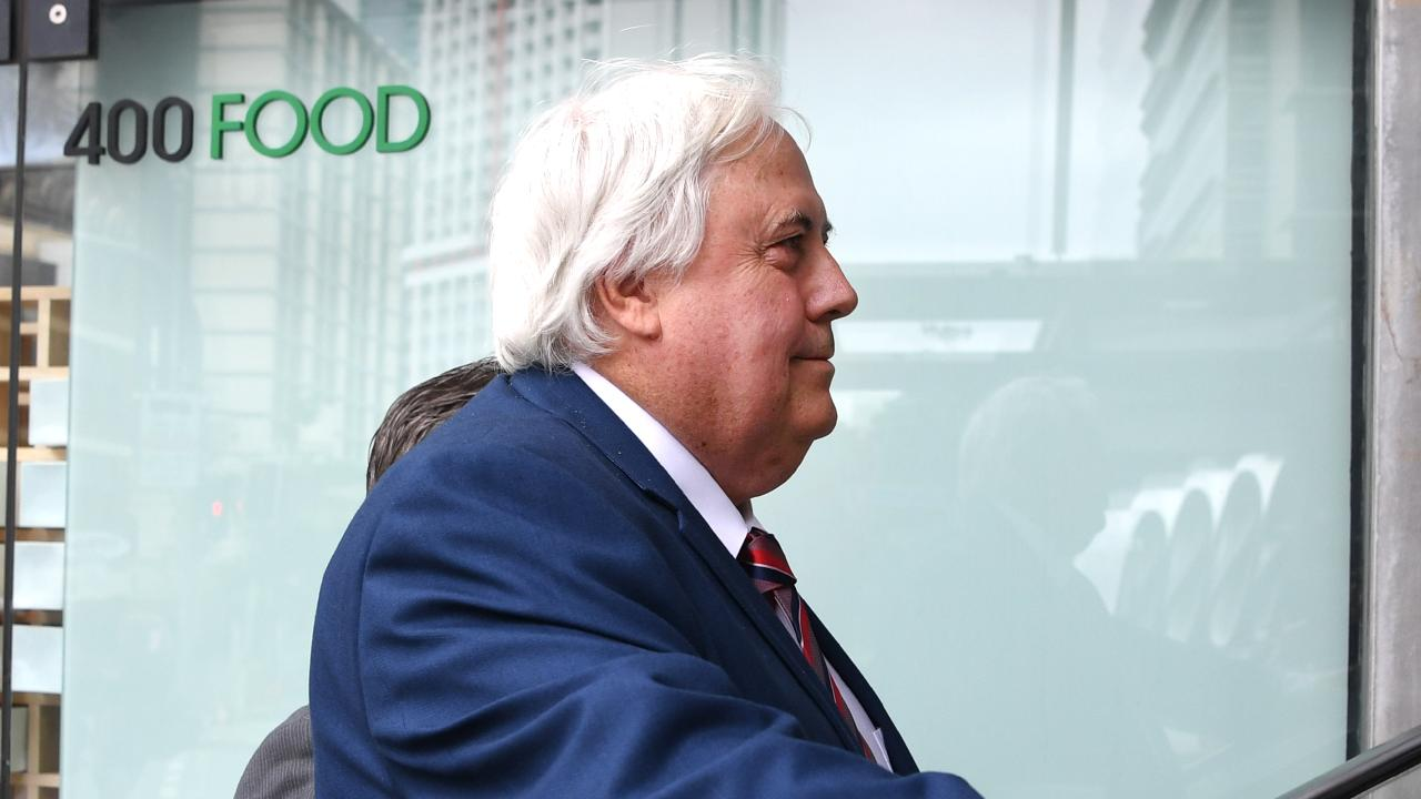 Businessman Clive Palmer at the Supreme Court in Brisbane on Tuesday. Picture: Dan Peled/AAP