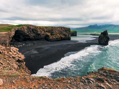 Incredibly, a beach in Iceland made the top 20 — the black-sand beach at Reynisdrangar, even though visitors are warned not to swim there due to the strong waves. Picture: iStock