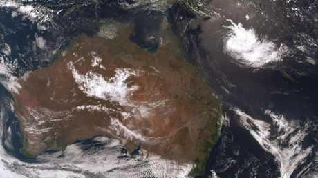 Bureau of Meteorology satellite map showing Cyclone Owen on Monday, December 3.