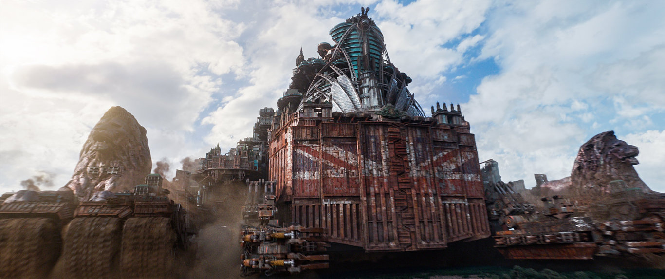 A scene from the movie Mortal Engines.