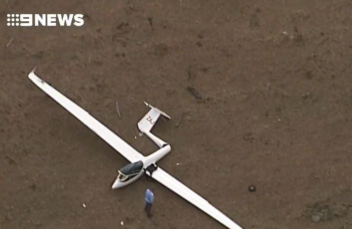 A glider has crashed at Hoya, near Boonah.