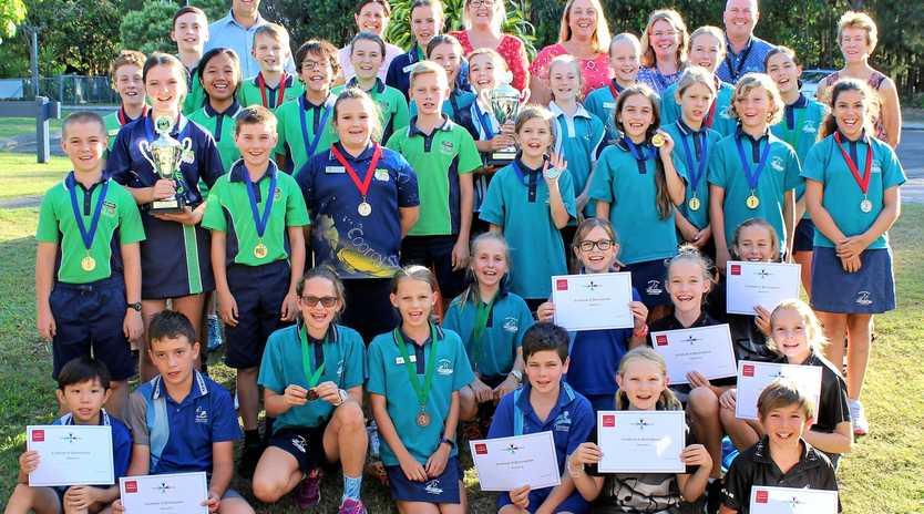 WELL ARGUED: The winning interschool Debaters' Cup teams comprising teams from Cooroy, Cooran, Noosaville and Tewantin Schools