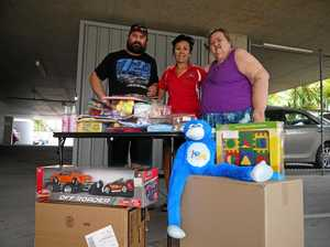 Lucky lady donates toys