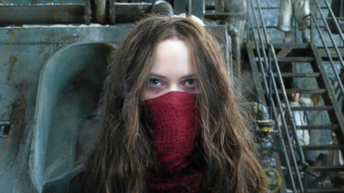BIG-BUDGET STEAMPUNK: Hera Hilmar in a scene from  Mortal Engines .