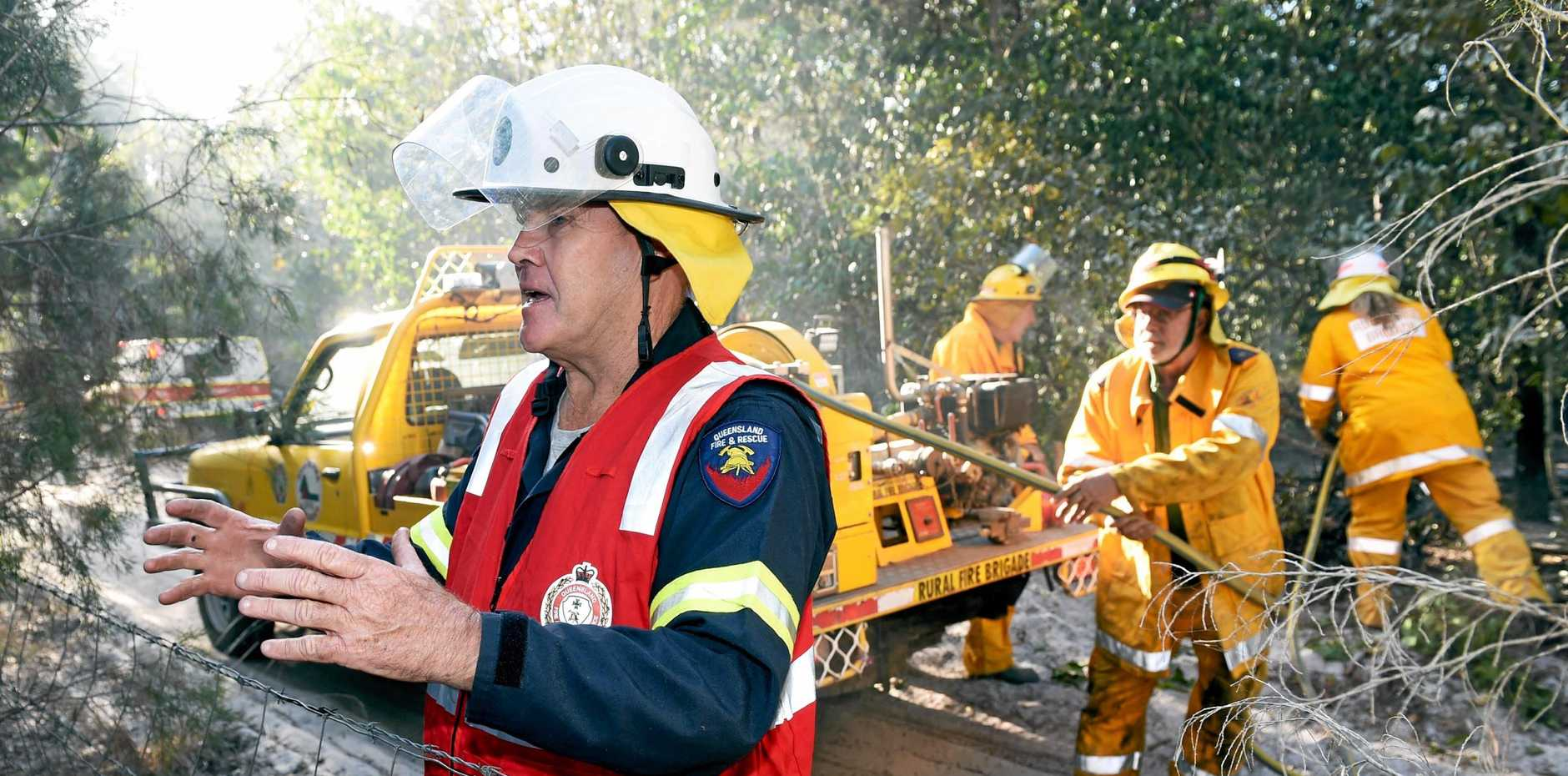 SELFLESS: Wolvi Rural Fire Brigade First Officer and Fire Warden Ian Beattie has been serving the community he loves for 23 years.