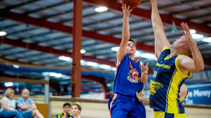 TOP SHOOTER: Cooloola Comets Michael Steinhardt was pin point accurate on the weekend.