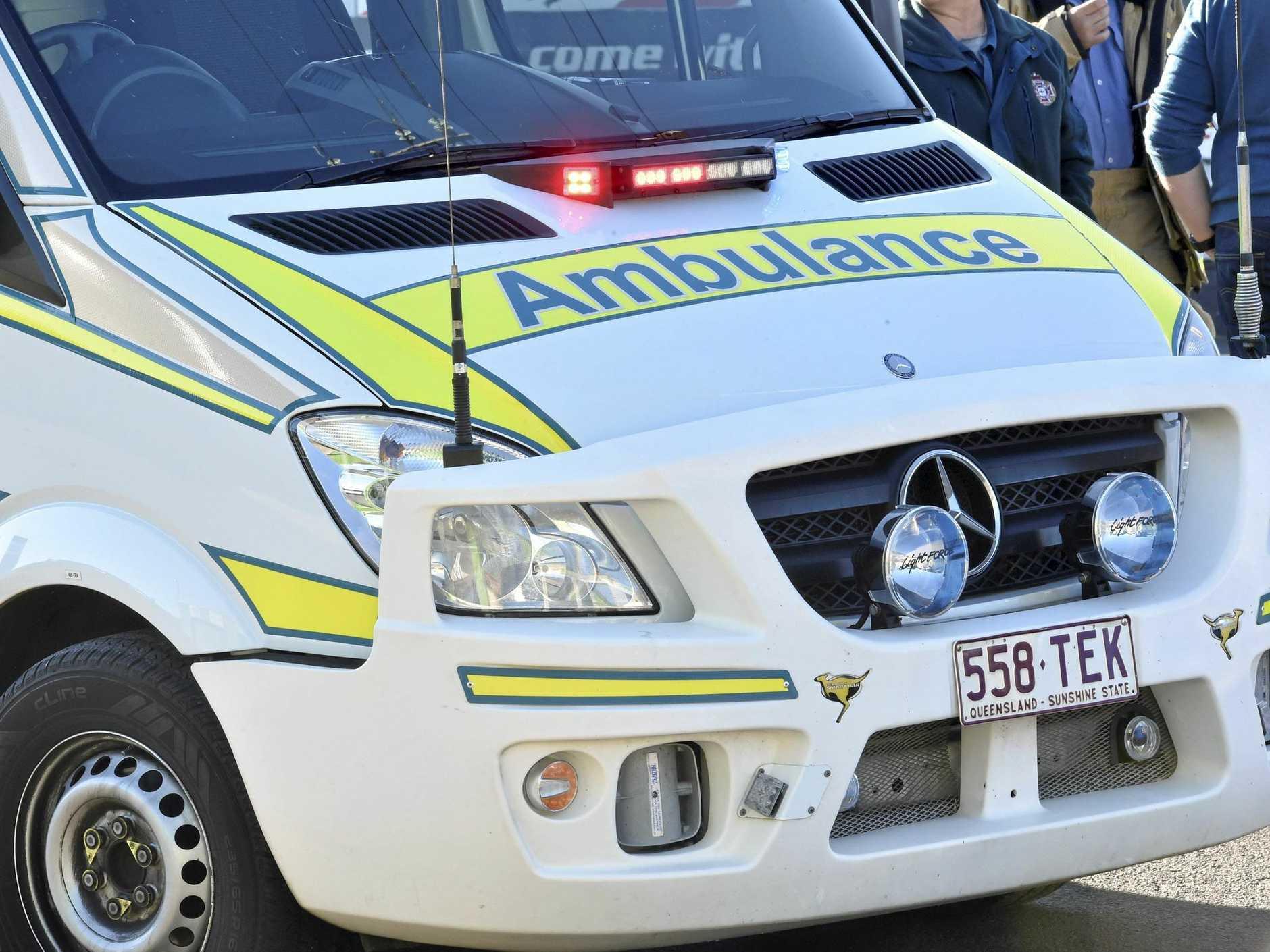 Three children were taken to hospital after their school bus crashed yesterday.