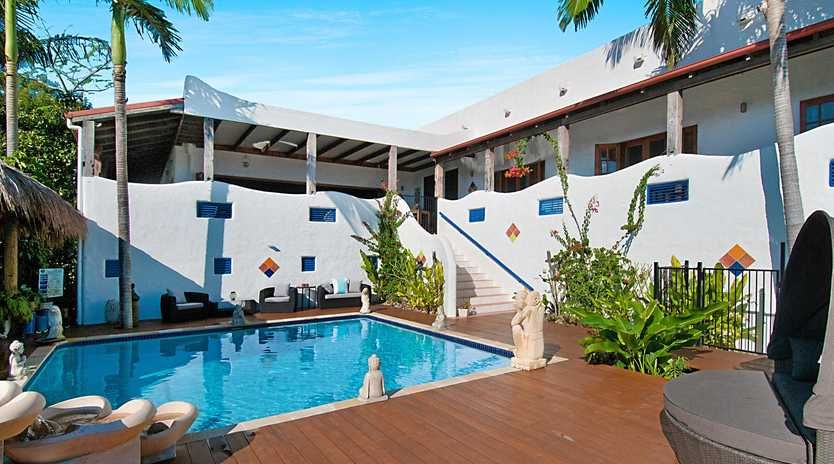 RESORT LIVING: Montanna Retreat is a spectacular spa property at 230 North Creek Rd,, Lennox Head and offers amazing potential for a tranquil family home or a luxury B&B and wedding venue.