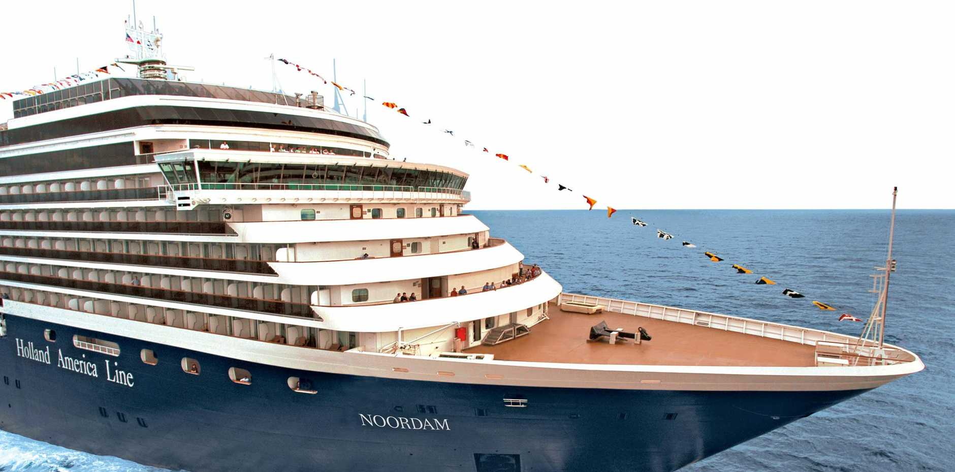 BOUTIQUE: The MS Noordam at sea. The Holland America cruise ship will arrive in Gladstone on Sunday.