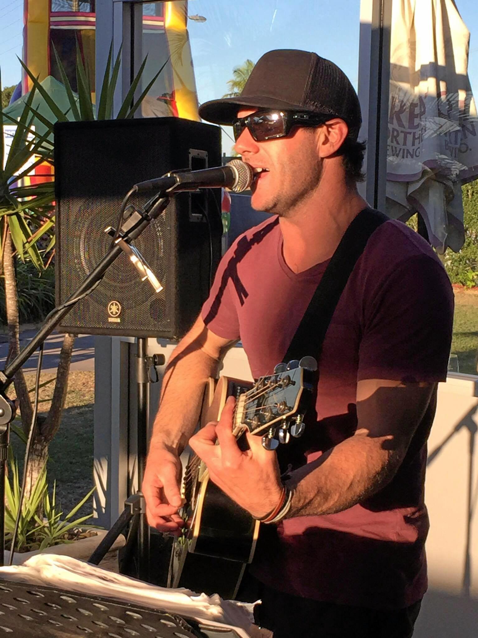 Chris Bax, local Gladstone musician.
