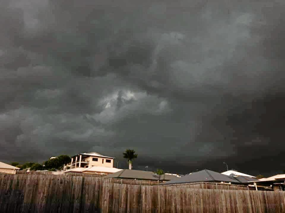 Keeley Lawrence shared this image of the storms clouds above Rockhampton on Tuesday afternoon.
