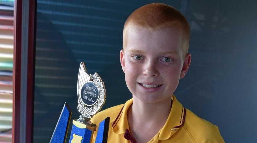 GILES MEMORIAL AWARD:  Biggenden State School student Matthew Geissler has been recognised for his pride in the community with the annual Eaton Giles Memorial award.
