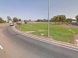 BREAKING: Crash blocks lane of Rocky's largest roundabout