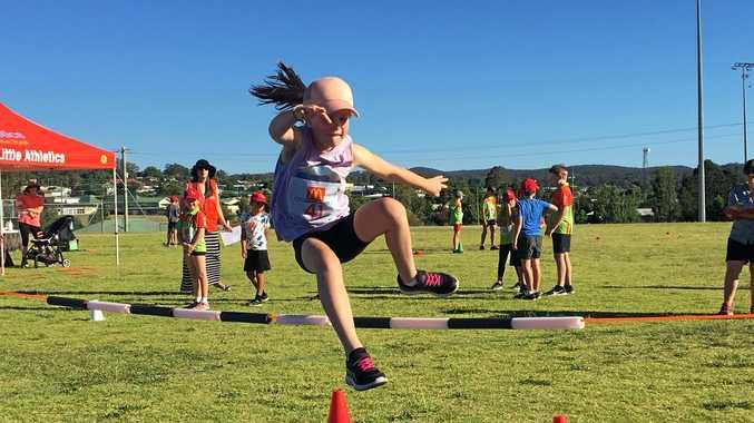 AIM HIGH: Little Athletics enjoyed high jump this week.