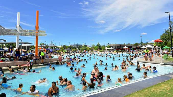 Australia Day celebrations at Orion Lagoon.
