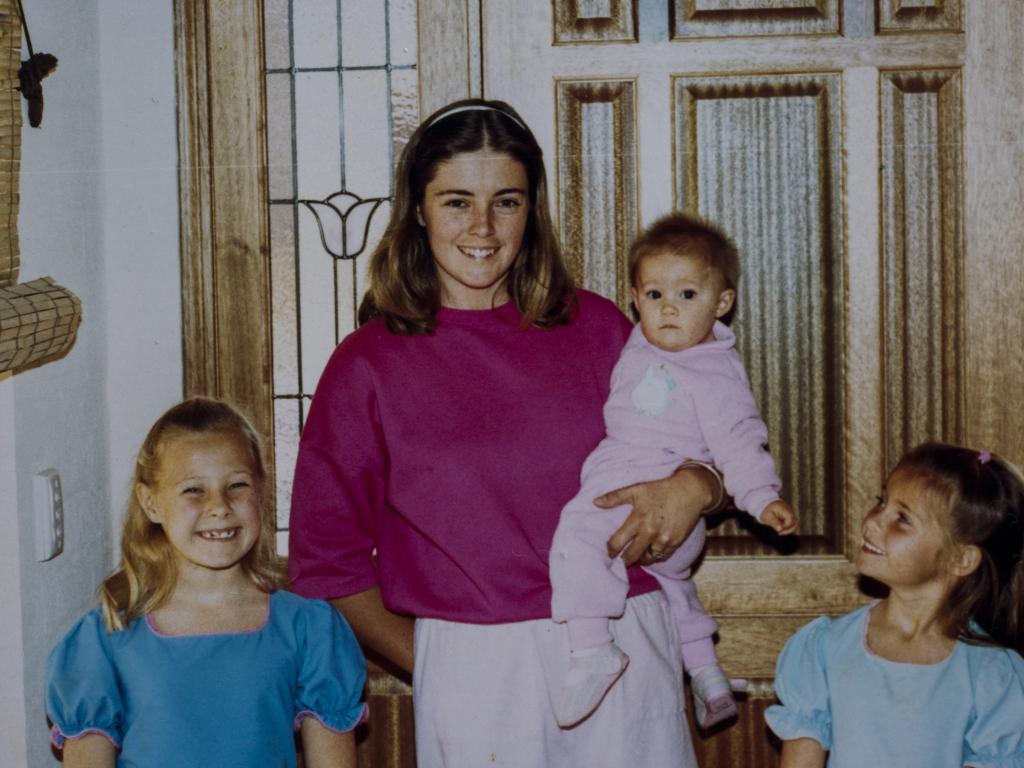 Joanne Curtis, baby Kristin, Sherryn Dawson, Shanelle Dawson.