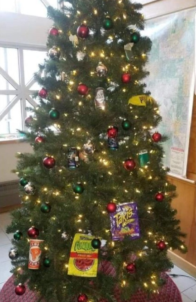Fallout over 'racist' Christmas tree continues. Picture: Twitter