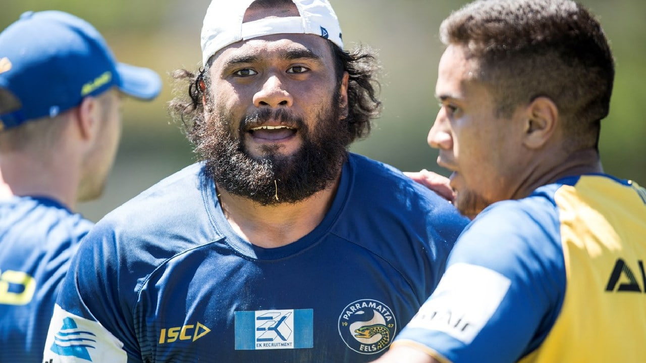 Junior Paulo at Eels training. Photo: Parramatta Eels.