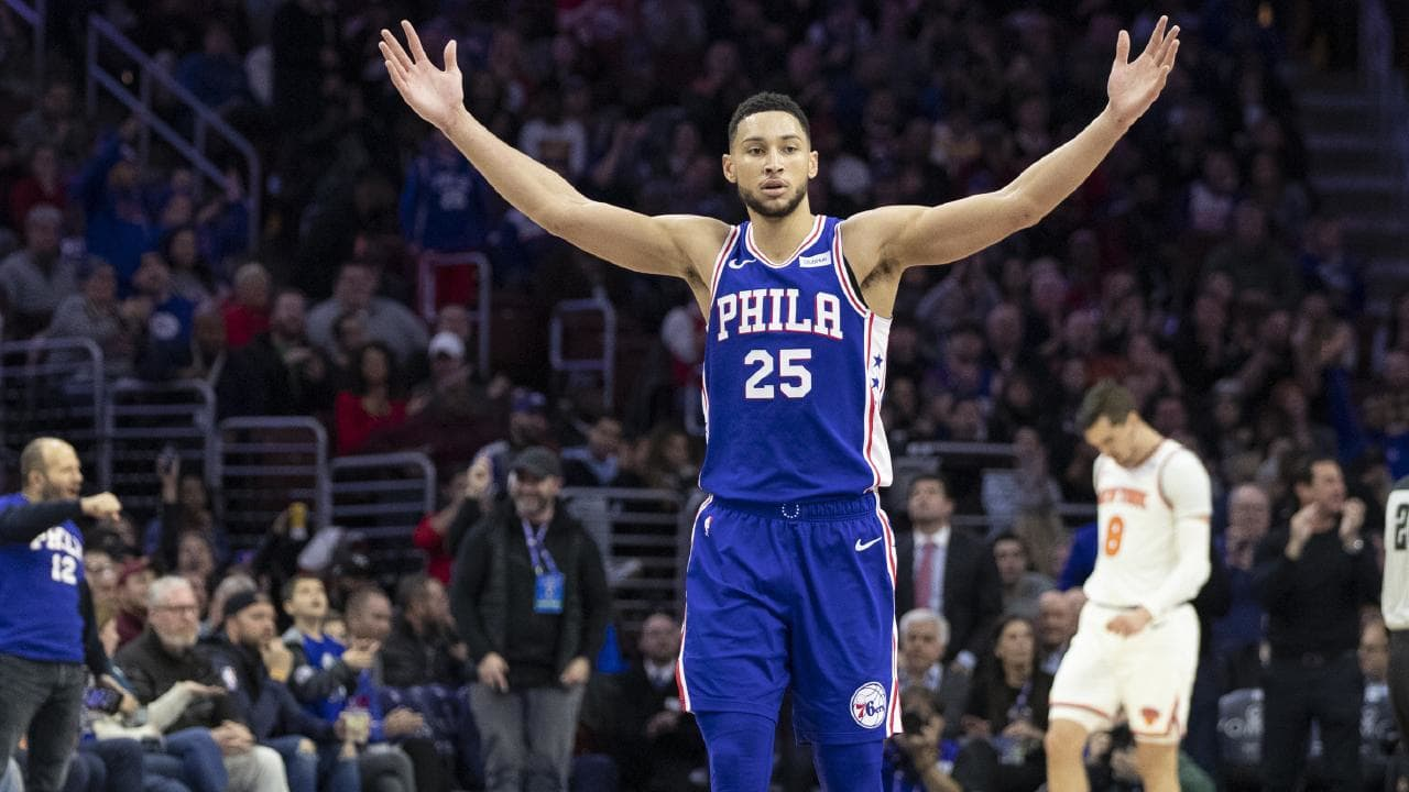 Ben Simmons continues to impress for the Philadelphia 76ers. Pic: AP
