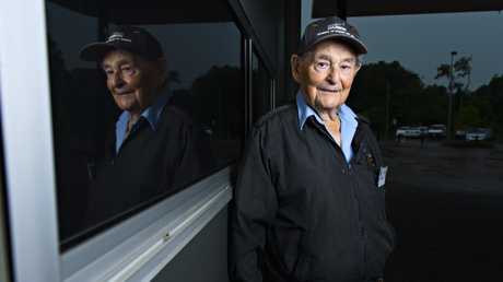 Max Murphy, 88, was an anti-aircraft gun ammunition runner during the Bombing of Darwin.