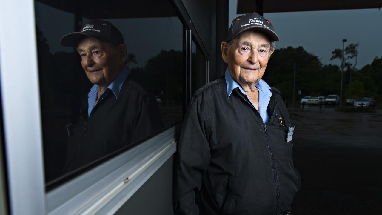 Max Murphy, 88, was an anti-aircraft gun ammunition runner during the Bombing of Darwin.