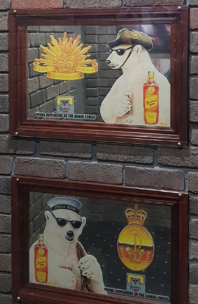 Commemorative mirrors in Bob's collection.
